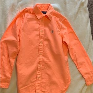 Neon orange polo Ralph Lauren Oxford shirt